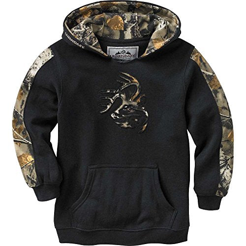 Legendary Whitetails Youth Outfitter Hoodie Onyx Medium