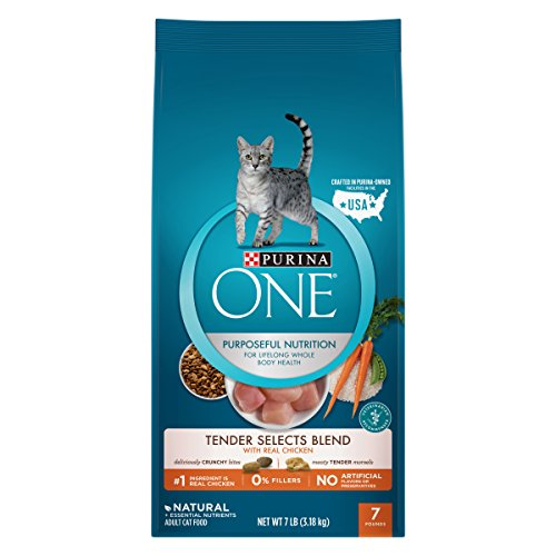 Purina One Tender Selects Blend With Real Chicken Adult Dry Cat Food - 7 Lb. Bag