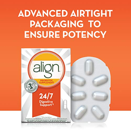Align Probiotics Supplement for Digestive Health in Adult Men and Women, 63 Probiotic Capsules - Bifidobacterium 35624 - #1 Doctor Recommended Probiotics Brand