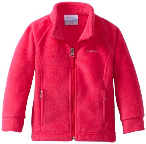 Columbia Big Girls' Benton Springs Fleece Jacket, Bright Rose, Large