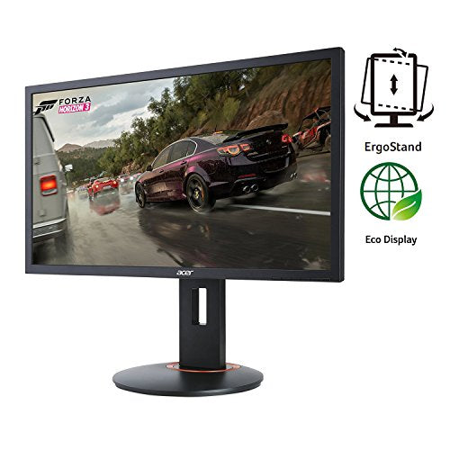 "Acer Gaming Monitor 24"" XFA240 bmjdpr 1920 x 1080 144Hz Refresh Rate 1ms Response Time AMD FREESYNC Technology with Height, Pivot, Swivel & Tilt (Display Port, HDMI/MHL, & DVI Port)"