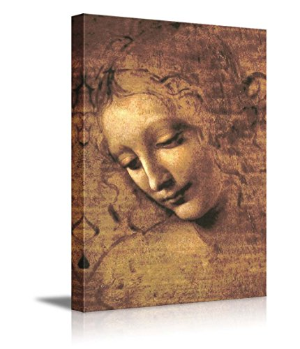 "The Head of a Woman (Also Known as La Scapigliata) by Leonardo Da Vinci - Canvas Wall Art Famous Fine Art Reproduction| World Famous Painting Replica on Wrapped Canvas Print Modern Home Decor Wood Framed & Ready to Hang - 12"" x 18"""