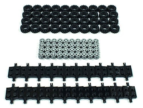 NEW Lego Tire, Wheel and Square Axles Bulk Lot - 100 Pieces Total