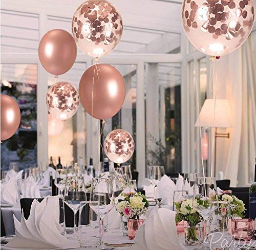 16th Birthday Decorations Party Supplies Jumbo Rose Gold Foil Balloons For