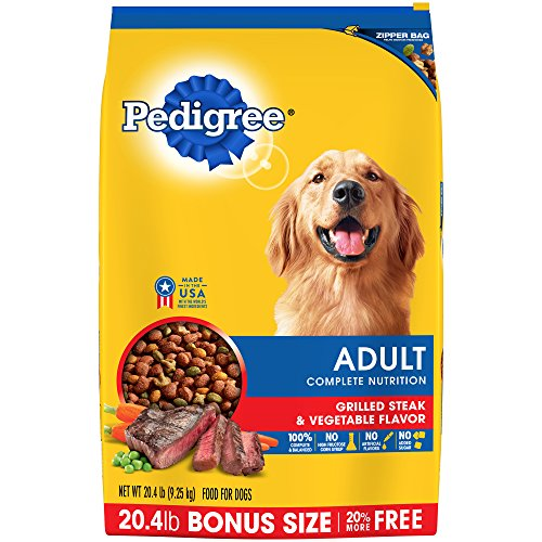 Pedigree Complete Nutrition Adult Dry Dog Food Grilled Steak & Vegetable Flavor, 20.4 Lb. Bag