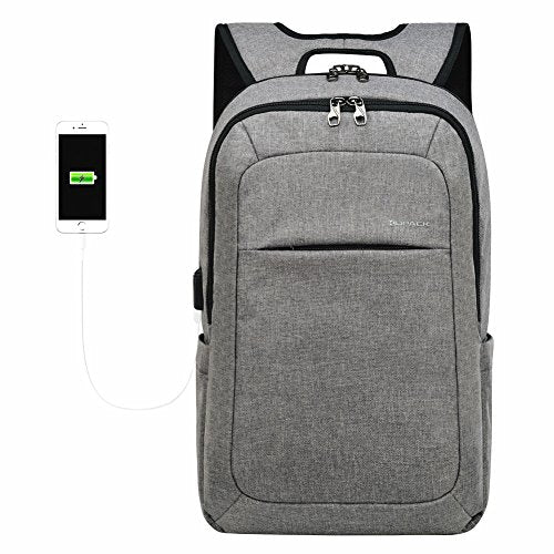 kopack Computer Backpack 17 Inch Water Resistant/USB Port/Anti-Theft Slim Travel Laptop Back Pack for College School Business