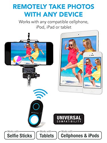 Premium HD Bluetooth Selfie Remote Control Camera Shutter for All iPhones,  All Samsung Galaxy, Most Androids, iPad, iPod, Tablets - Get Perfect Phone