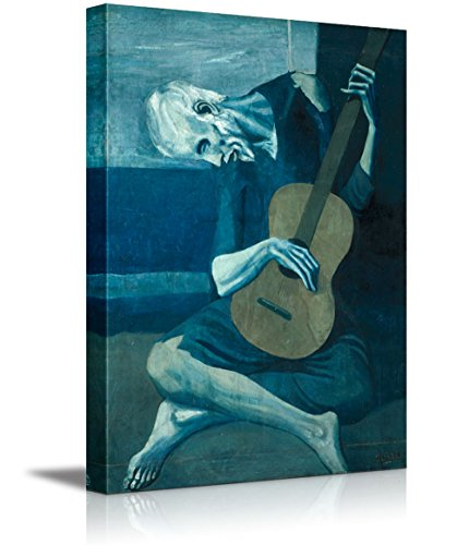 "wall26 - The Old Guitarist by Pablo Picasso - Canvas Art Wall Decor - 12""x18"""