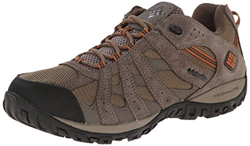 Columbia Men's Redmond Waterproof Wide Hiking Shoe, Pebble, Dark Ginger, 9.5 2E US