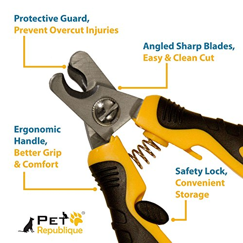 Pet Republique Professional Pet Nail Clippers with Filer - Cat, Puppy, Small, Medium, Large Dog, Large Bird Claws Nails Trimmer Tool (Small Clippers + Filer)