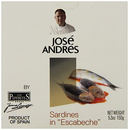 Jose Andres Foods Sardines in Escabeche, 5.3 Ounce