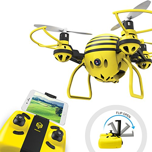 HASAKEE FPV RC Drone with HD WiFi Camera Live Video RC Quadcopter with Altitude Hold, App Control, Headless Mode & One Key Return, Mini Quadcopter Drone for Kids & Beginners
