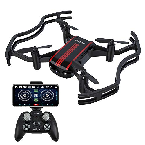 Drones with Camera - AKASO A21 Quadcopter Drone Camera Live Video with 720P HD FPV WiFi RC Drone for Kids Beginners Adults - with One Key Take-Off/Landing, Optical Altitude Hold