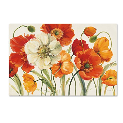 "Poppies Melody I Wall Decor by Lisa Audit, 22"" x 32"" Canvas Wall Art"