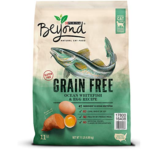 Purina Beyond Grain Free Natural, Ocean Whitefish & Egg Recipe Dry Cat Food, 11Lb Bag