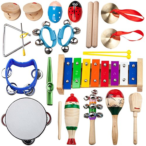 Kids Mini Band Musical Instruments Rhythm Xylophone Set for Percussion Toy(14psc)