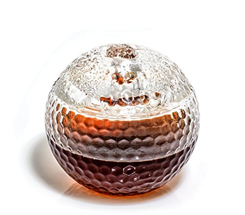Golf Ball Liquor Decanter - Scotch Whiskey Decanter - 1000ml Decanter for Alcohol - Vodka, Bourbon, Rum, Wine, Whiskey, Tequila - Glass (Golf Decanter from Prestige Decanters)