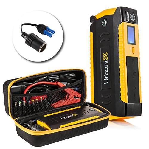 Urbanix 600A Peak 15000mAh – Portable car Jump Starter Battery Booster Charger- 4 X USB Power Bank, LCD Screen & Compass, Led Flashlight -Ideal for Camping, Special Bonus 12V Cigarette Lighter Adapter