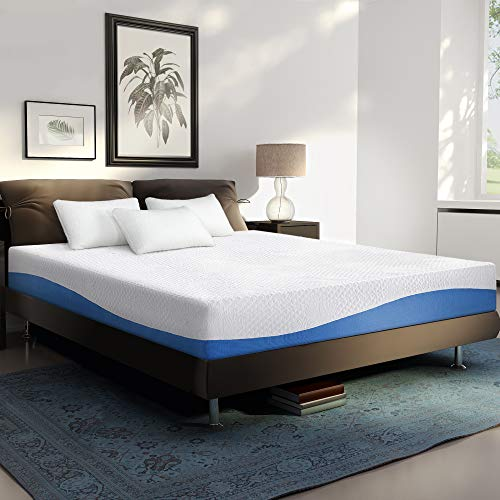 PrimaSleep PR10FM01Q PA10FM01Q Mattress, Queen, Blue/White