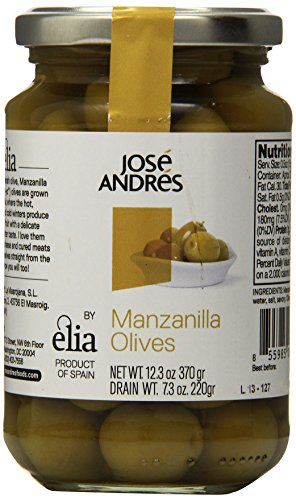 Jose Andres Foods Manzanilla Olives, 12.3 Ounce