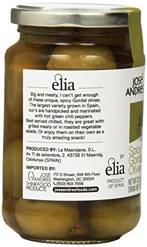Jose Andres Foods Spicy Gordal Olives, 12.3 Ounce