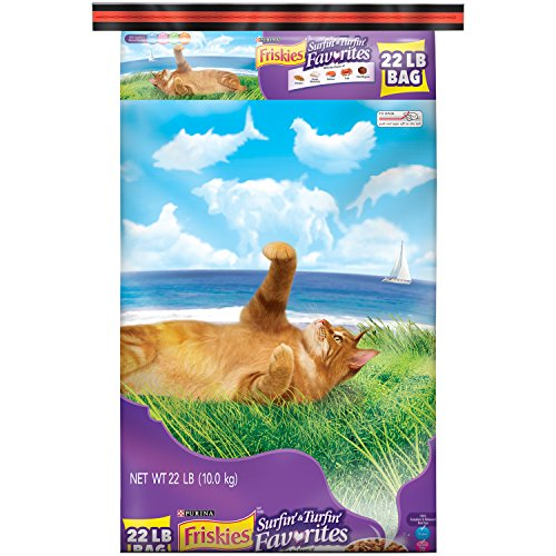 Purina Friskies Surfin' & Turfin' Favorites Adult Dry Cat Food - 22 Lb. Bag