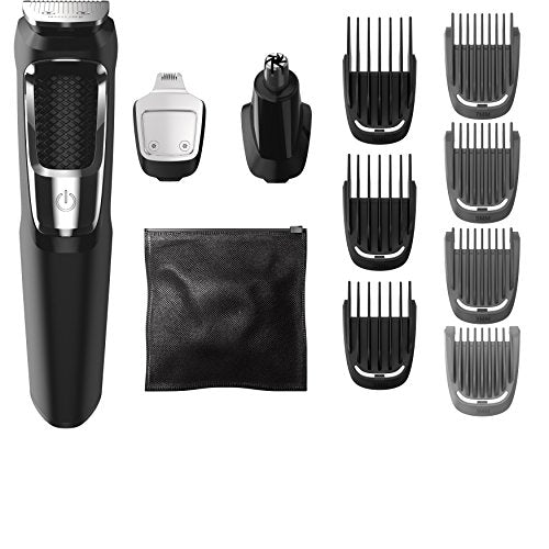 Philips Norelco Multi Groomer MG3750/60 - 13 piece, beard, face, nose, and ear hair trimmer and clipper