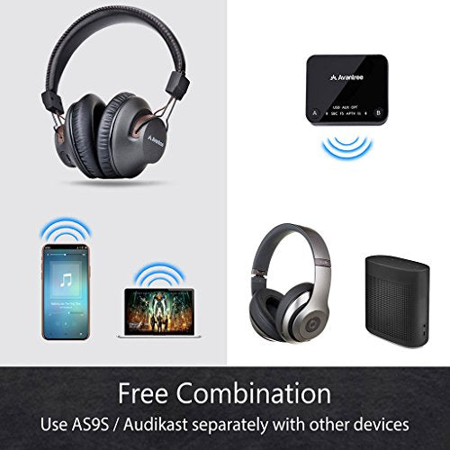 ef6eea8d507 2018 Avantree HT4189 Wireless Headphones for TV Watching & PC Gaming with Bluetooth  Transmitter (OPTICAL