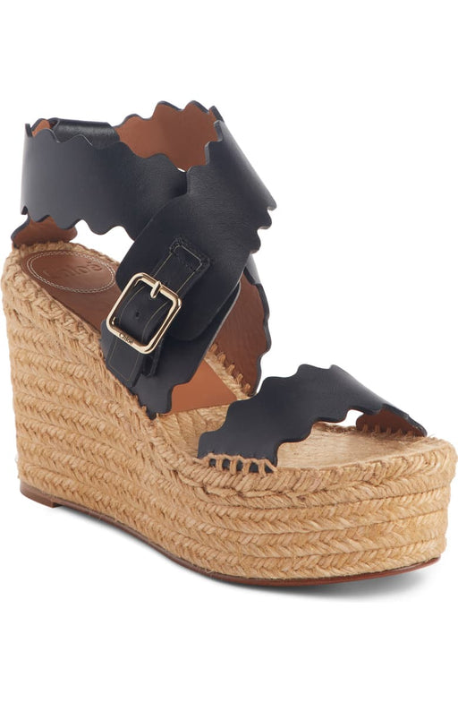 Lauren Scalloped Wedge Platform Sandal Chloê