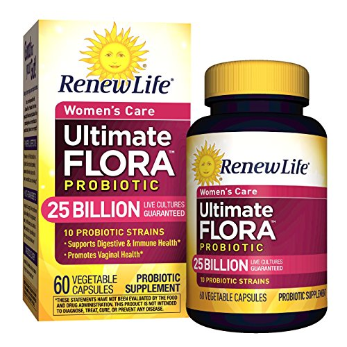 Renew Life - Ultimate Flora Probiotic Women's Care - 25 billion - probiotics for women - daily digestive and immune health supplement 60 count