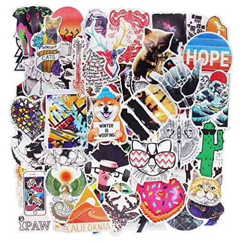 Cute Stickers Pack for Teen Girls Vinyl Cartoon Laptop Decals Bumper Skateboard Luggage Computer Bike Waterproof Graffiti 100 Pieces
