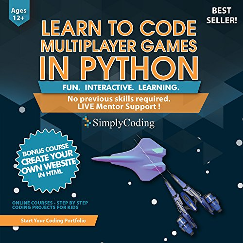 Learn to Code PYTHON for Multiplayer Adventure Games (Ages 12+) – Programming and Video Game Design for Kids – Writing Software & Computer Coding - Better than Minecraft Mods - ( PC, Mac & Linux )