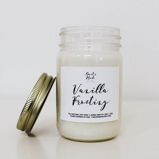 Baitx Made - Vanilla Frosting Candle, 12 oz