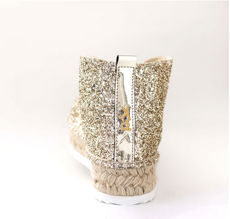 Botin Glitter Dorado - 4qui.com Mercado Global en Español  Women Shoes