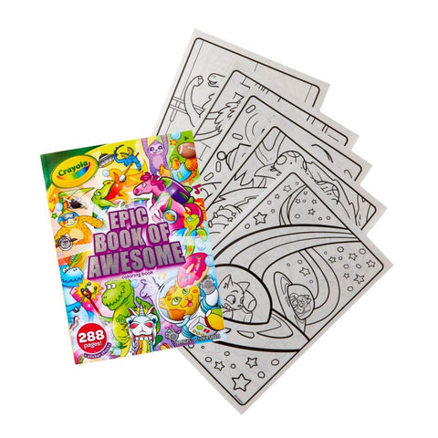 Crayola Epic Book of Awesome All-in-One Coloring Book Set