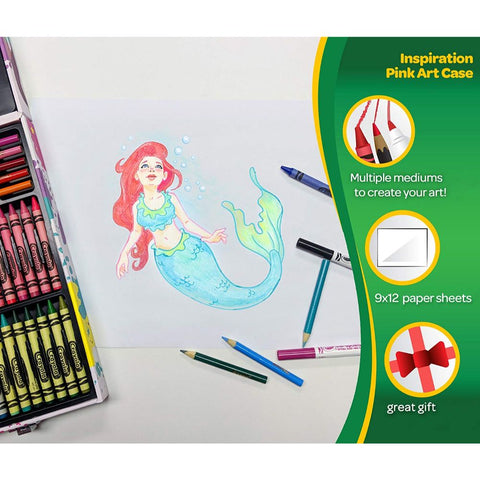 Crayola 140 Pc. Inspiration Art Case with Portable Art & Coloring Supplies