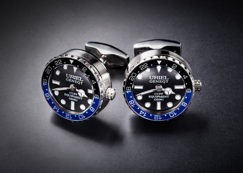 GE001 CUFFLINKS (Blue-Black color)