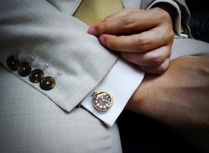 GE001 CUFFLINKS (Version B, Brown color)
