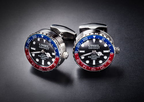 GE001 CUFFLINKS (Version A Blue-Red color)