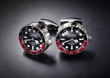 GE001 CUFFLINKS (Version C, Black-Red color)