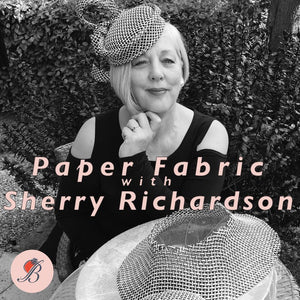 Sherry Richardson with B Unique Paper Fabric