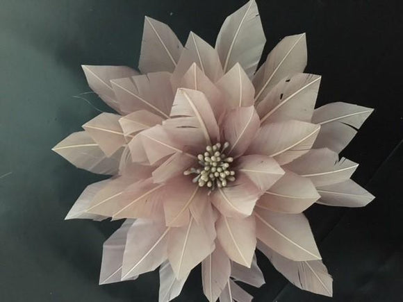 Large 16cm Cut Feather Flower Centre - US - B Unique Millinery