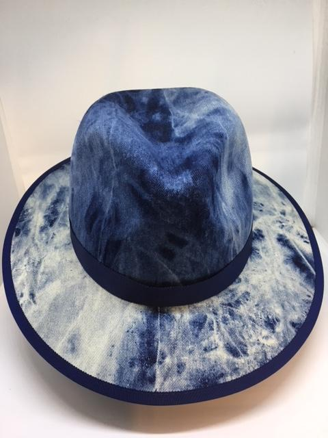 Trilby Shape Denim Hats - AU - B Unique Millinery