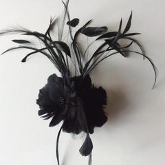 Double Feather Flower (YX4049) - AU - B Unique Millinery
