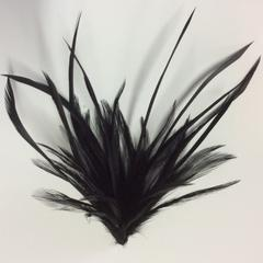 Dyed Feather Flower (F0024) - AU - B Unique Millinery