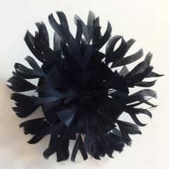 Large Feather Flower (YX12079) (0416) - US - B Unique Millinery