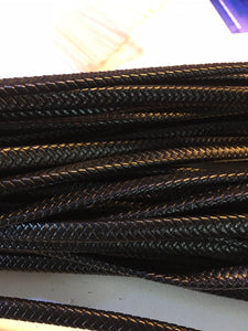 Flat Braided Leather Cord - AU