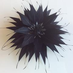 Spikey Feather Flower Large (EF1099) - AU - B Unique Millinery