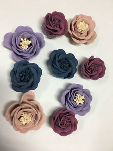 Faux Suede Leather Flowers - AU - B Unique Millinery