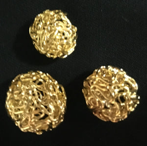 Metal Hollow Ball Beads - AU - B Unique Millinery
